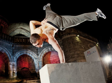 The 2012 Red Bull Art of Motion parkour competition is streaming live online with FreeCast.